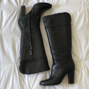 Halogen heeled leather boots- size 7
